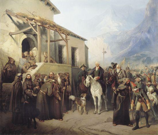 А. И. Шарлемань. Фельдмаршал Суворов на вершине Сен-Готарда 13 сентября 1799 года
